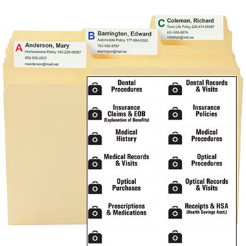 MO Medical Kit Labels & Template
