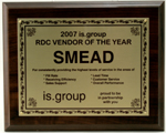 SMEAD NAMED VENDOR OF THE YEAR