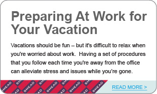 Preparing At Work for  Your Vacation