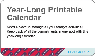 Year-Long Printable Calendar