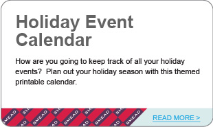 Holiday Event Calendar