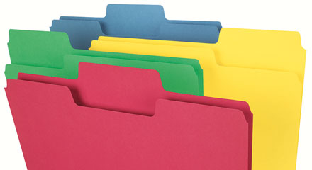 Using Colored Filing Products For Better Organization