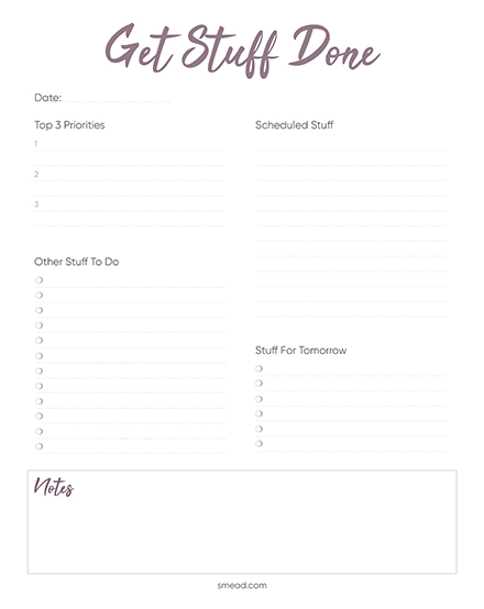 Checklist: To Do List