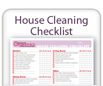 housecleaning lists