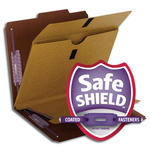 Smead Pressboard Classification File Folder with Wallet Divider and SafeSHIELD® Fasteners 14065, 2 Dividers, 2