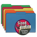 Smead Interior File Folder 15229, 1/3-Cut Tab, Legal, Assorted Colors