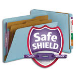 End Tab Pressboard Classification Folders with SafeSHIELD® Fasteners