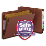Smead End Tab Pressboard Classification Folder with SafeSHIELD® Fasteners 26860, 2 Dividers, 2