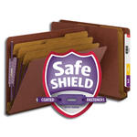 Smead End Tab Pressboard Classification Folder with SafeSHIELD® Fasteners 26865, 3 Dividers, 3