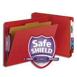 Smead End Tab Pressboard Classification Folder with SafeSHIELD® Fasteners 26883, 1 Divider, 2