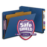 Smead End Tab Pressboard Classification Folder with SafeSHIELD® Fasteners 26884, 1 Divider, 2