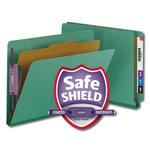 Smead End Tab Pressboard Classification Folder with SafeSHIELD® Fasteners 26885, 1 Divider, 2