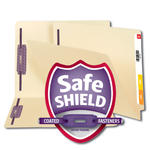 Smead End Tab Fastener Heavyweight File Folder with SafeSHIELD® 34217, Shelf-Master® Reinforced Straight-Cut Tab, 2 Fasteners, Letter, Manila