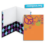 SmeadCampus.org Style Collection Two-Pocket File Folder 87936, Up to 100 Sheets, Letter, Argyle/Peace