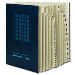 Smead Desk File/Sorter 89235, Daily (1-31) and Monthly (Jan.-Dec.), 43 Dividers, Letter, Blue