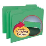 Smead Interior File Folder 10247, 1/3-Cut Tab, Letter, Green
