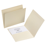Smead Pocket Folder 10315, Reinforced Straight-Cut Tab, Letter, Manila