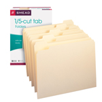 Smead File Folder 10350, 1/5-Cut Tab, Letter, Manila