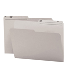 Smead Reversible File Folder 10363, 1/2-Cut Printed Tab, Letter, Gray