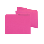 Smead Reversible File Folder 10368, 1/2-Cut Printed Tab, Letter, Dark Pink