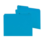 Smead Reversible File Folder 10373, 1/2-Cut Printed Tab, Letter, Sky Blue