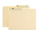 Smead Reversible File Folder with Antimicrobial Production Protection 10377, 1/2-Cut Printed Tab, Letter, Manila