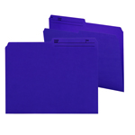 Smead Reversible File Folder 10378, 1/2-Cut Printed Tab, Letter, Purple