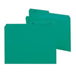 Smead Reversible File Folder 10379, 1/2-Cut Printed Tab, Letter, Teal