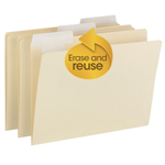Smead FlexiFolder™ Heavyweight Folder with Movable Tab 10403, Erasable 1/3-Cut Extra Wide Tab, Letter, Manila