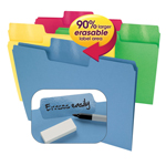 Erasable SuperTab® File Folders