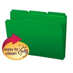 Smead Poly File Folder 10502, 1/3-Cut Tab, Letter, Green