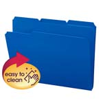 Smead Poly File Folder 10503, 1/3-Cut Tab, Letter, Blue
