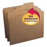 Smead File Folder 10734, Reinforced 1/3-Cut Tab, Letter, Kraft