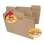 Smead Tree Free SuperTab® File Folder 10750, Oversized 1/3-Cut Tab, Letter, Natural Brown