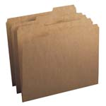Kraft File Folders with Reinforced Tab