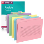 Smead Notes File Folder 11645, Reinforced 1/3-Cut Tab, Letter, Assorted Colors