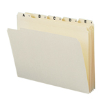 Smead Indexed Folder Set 11777, Alphabetic (A-Z) Folders, Reinforced 1/5-Cut Tab, Letter, Manila