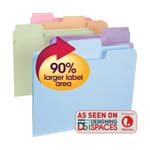 Smead SuperTab® File Folder 11927, Oversized 1/3-Cut Tab, Letter, Assorted Colors