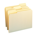 Smead File Folder 11928, 1/3-Cut Tab, Assorted Positions, Letter, Manila