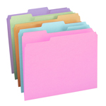 Smead File Folder 11953, 1/3-Cut Tab, Letter, Assorted Colors
