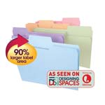 Smead SuperTab® File Folder 11962, Oversized 1/3-Cut Tab, Legal, Assorted Colors