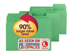 Smead SuperTab® File Folder 11985, Oversized 1/3-Cut Tab, Letter, Green