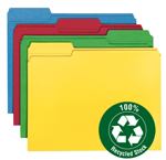100% Recycled Colored File Folders