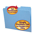Smead File Folder 12086, Reinforced 2/5-Cut Tab Right Position, Guide Height, Letter, Blue