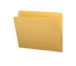 Smead File Folder 12210, Reinforced Straight-Cut Tab, Letter, Goldenrod