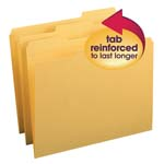 Smead File Folder 12234, Reinforced 1/3-Cut Tab, Letter, Goldenrod