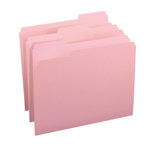 Smead File Folder 12643, 1/3-Cut Tab, Letter, Pink