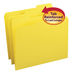 Smead File Folder 12934, Reinforced 1/3-Cut Tab, Letter, Yellow