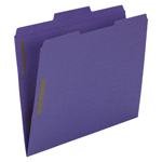 Smead Fastener File Folder 13040, 2 Fasteners, Reinforced 1/3-Cut Tab, Letter, Purple