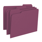 Smead File Folder 13093, 1/3-Cut Tab, Letter, Maroon